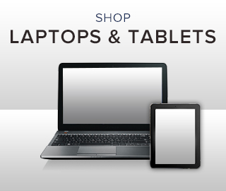 Picture of laptop and tablet. Click to shop.